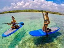 手ぶらでSUP体験★沖縄の海をスイスイ海上散歩♪