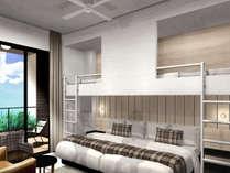 マウンテンロッジ(ホテル棟)ロフトベッド・ソファベッドあり