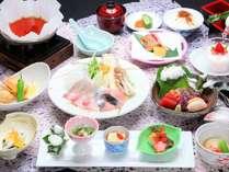 魚すき鍋や旬の食材が味わえる~四季旬彩会席~2月(イメージ)