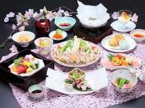 桜鯛しゃぶや旬の食材が味わえる~四季旬彩会席~4月(イメージ)