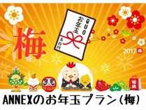 【QUO500付き】ANNEXのお年玉付きプラン「梅」【新春限定】