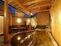 露天家族風呂(車イス対応)ご家族・カップル・女性のお客様は、無料でご利用出来ます。