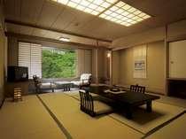 【別館一例】数寄屋造りの純和風なお部屋。当館最高グレードのお部屋です。