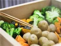 【朝食一例】地元で採れたほくほくの蒸し野菜♪