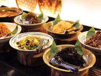 【朝食一例】毎日手づくりのお惣菜は、ほっこり会津のおふくろの味。