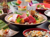 【会席一例】旬の素材を使用した創作会津郷土料理。