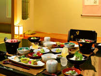 【お部屋食】<水入らずでのんびりお食事されたい方に> ご夕食は当館一番人気のご夕食 創作会津郷土料理