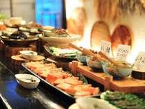 【朝食一例】会津にこだわった素朴な和風ビュッフェ。