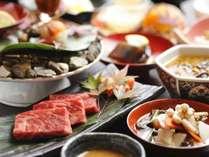 【じゃらん限定・ポイント10%】当館一番人気のご夕食 お勧め創作会津郷土料理/ダイニングで地酒もご用意