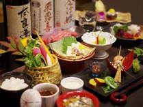 【創作会津郷土料理の一例】桜刺し(馬刺し)は別注にて承っております。