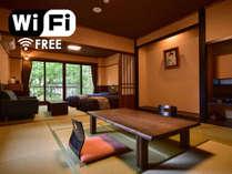 ◆二間続きの和洋室◆(ベッドルーム+和室)トイレ付 一例