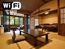 ◆和スイート◆(ベッドルーム+和室12畳)バストイレ付 一例