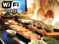【朝食一例】会津にこだわった素朴な和風ビュッフェ。7:00~9:00(休日7:00~9:30)