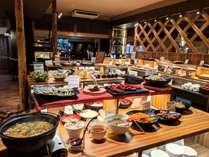 姉妹館・千代滝の創作会津郷土料理ビュッフェ。夕食に姉妹館ビュッフェを楽しめるプランです。