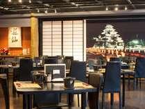 【ダイニング 遊仙】和の雰囲気漂うモダンな作りの夕食会場です。