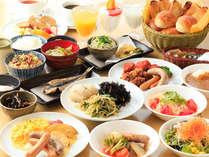 人気の朝食バイキング!当日の朝でも¥950(税込)で販売中です!