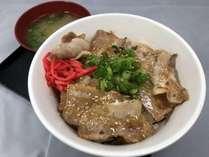 豚バラあぶり焼き丼¥780(税込)みそ汁付です