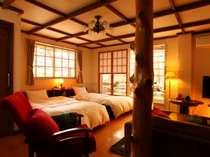 Vroom・客室(室内面積 29.05平米露天風呂+庭 105平米)