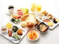 朝食バイキング 日によって多少メニューが変わります