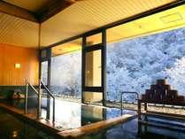 【風呂】冬の女性大浴場からの眺め