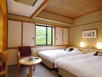 ツイン【山側17平米】緑の山々が一望できるお部屋。※こちらのお部屋からは海は見えません。ご承知下さい。