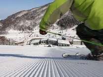 ◆朝いちばんはタングラム自慢の圧雪バーン☆