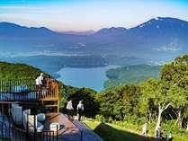 ◆絶景!野尻湖・北信五岳を見渡せる展望デッキ
