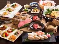 ◆夕食バイキング 和洋中40種類のお料理が食べ放題!! *イメージ