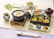京の朝がゆ(湯葉入り)朝食