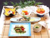 *【憩コース 一例】2017年夏のメニュー。魚がメインのヘルシーなお料理で内側から綺麗に!
