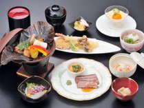 *【夕食一例/琥珀コース】美味しいものを食べて、心と体の両面からパワーをチャージ下さい。