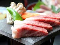 【贅沢コース】熔岩焼き「国産牛」ステーキ&館山の海の幸 貸切風呂無料付