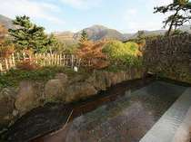 秋景の『牧ノ戸の湯』女湯露天風呂