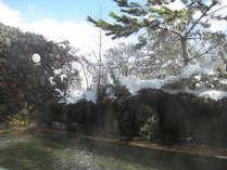 牧ノ戸の湯の雪見露天☆