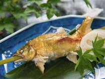 ■ヤマメの塩焼き■ 日本の四季を大切に、旬の味覚と県産にこだわる、食のおもてなし ※別注にて承ります