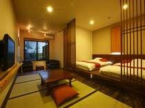 一の湯版スイートがテーマの【別邸】ローベットスペースのあるリビング付和洋室(WiFi無料)