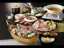 豪華海の幸満載の舟盛り付き!美味出汁で食べる新感覚の国産豚しゃぶしゃぶコース(2019年春夏)
