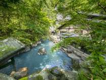 新緑びょうぶ岩露天風呂