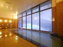 *大浴場「風の音」。美肌の湯にゆっくり浸かって、白肌すべすべ!