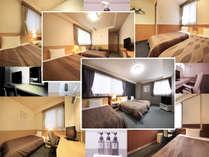 シングルからトリプルまで全142室の客室をご用意致しております。
