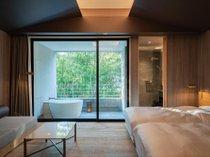 露天風呂付き客室 木立のツイン