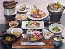 県魚の浜ちゃん鍋や神戸牛ステーキ付き懐石