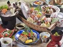 伊勢海老、あわび、鯛のあら炊き、海鮮丼、県魚の浜ちゃん鍋など・・・
