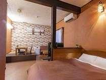 【本館2階】展望檜風呂付ダブルルーム角部屋