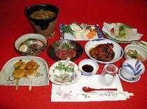 元祖五平餅・名物鯉の甘露煮などを中心とした会席コース