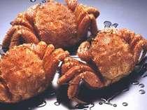 活毛蟹の茹で上げ