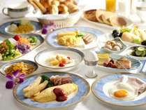 朝食ブッフェ イメージ 約40品目が揃う