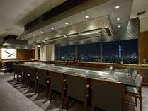 【贅沢ホテルステイ】東京スカイツリーを一望できる鉄板焼レストランで贅沢ディナーを堪能♪夕朝食付