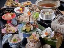 """【松茸コース料理一例】秋でしか味わえない""""松茸料理""""を是非、当館でご賞味ください。"""