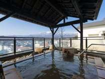 露天風呂から雄大な蔵王連峰の景色を、独り占め♪